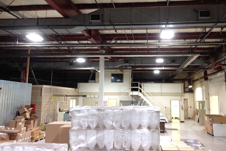 ketchum manufacturing warehouse lighting