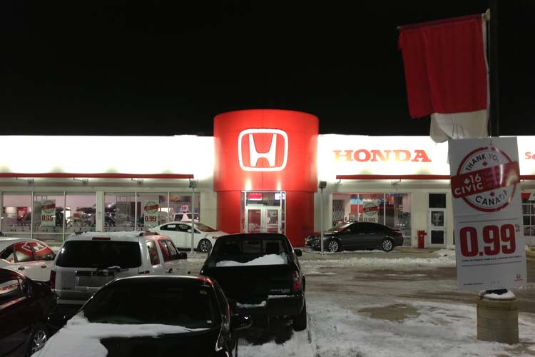 london honda dealership lighting project