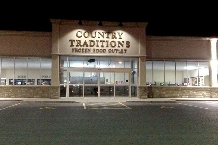 country traditions LED lighting installation